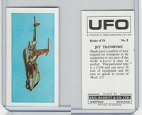 B0-0 Bassett, UFO, 1974 Space Cards, #3 Jet Transport Airplane