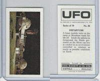 B0-0 Bassett, UFO, 1974 Space Cards, #36 Departure Moonbase