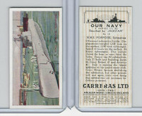 C18-62 Carreras, Our Navy, 1937, #13 HMS Porpoise Submarine