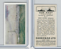 C18-62 Carreras, Our Navy, 1937, #14 HMS Rover Submarine