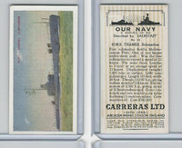 C18-62 Carreras, Our Navy, 1937, #16 HMS Thames Submarine