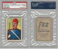 T79 Fez, Lenox, Tolstoi, Military, 1910, Bosnian-Herz. Infantry, PSA 2 Good