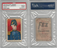 T79 Fez, Lenox, Tolstoi, Military, 1910, Brig. General, USA, PSA 2 MK Good