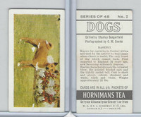 H0-0 Hornimans Tea, Dogs, 1961, #2 Basenji