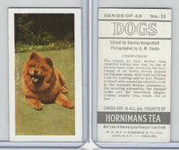 H0-0 Hornimans Tea, Dogs, 1961, #31 Chow Chow