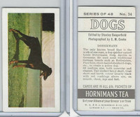 H0-0 Hornimans Tea, Dogs, 1961, #34 Dobermann