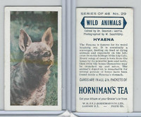 H0-0 Hornimans Tea, Wild Animals, 1958, #29 Hyaena