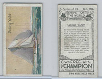 C0-0 Champion, Ships of the World, 1924, #23 Sailing Yacht