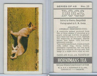 H0-0 Hornimans Tea, Dogs, 1961, #26 Alsatian German Shepherd