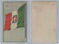 H626, Blank Back, National Flags, 1909, Italy