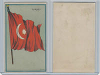 H626, Blank Back, National Flags, 1909, Turkey
