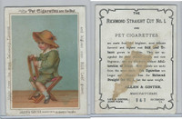 N Card, Allen & Ginter, Pet Cigarettes, 1890's, Child in Chair