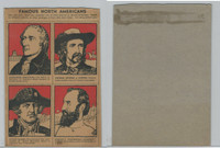 F278-50 Post Cereal, Famous North Americans, 1930's, Panel, Custer, Jackson