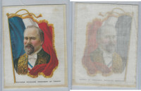 SC9 ATC Silk, Rulers With Flag, 1910, France, President Raymond Poincare