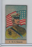 W Card, Strip Card, Military, 1920's, #4 US General, USA Flag