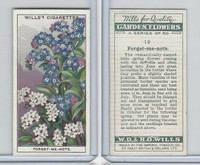 P72-139 Player, Garden Flowers, 1933, #19 Forget-me-nots
