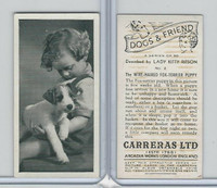 C18-40 Carreras, Dogs & Friend, 1936, #2 Wire-Haired Fox Terrier
