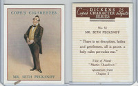 C132-72 Cope, Dickens Character, 1939, #12 Mr. Seth Pecksniff