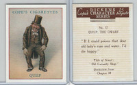 C132-72 Cope, Dickens Character, 1939, #17 Quilp The Dwarf