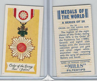 A46-32 Amalgamated, Medals Of World, 1959, #24 Order Rising Sun, Japan