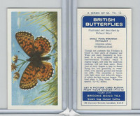 B0-0 Brooke Bond, British Butterflies, 1963, #12 Small Pearl-Bordered Fritillary
