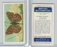 B0-0 Brooke Bond, British Butterflies, 1963, #14 High Brown Fritillary