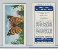 B0-0 Brooke Bond, British Butterflies, 1963, #20 Painted Lady