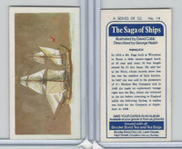B0-0 Brooke Bond Tea, Saga Of Ships, 1970, #14 Nonsuch