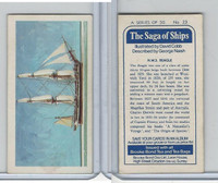 B0-0 Brooke Bond Tea, Saga Of Ships, 1970, #23 HMS Beagle