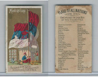 N10 Allen & Ginter, Flags of all Nations, 1890, Montenegro
