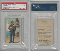 T81 Recruit, Military, 1908, Admiral Navy England, PSA 3 VG