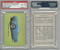 D72 Mother's Cookies, Sport Cars, 1955, #13 Chevrolet Corvette, PSA 8 NMMT