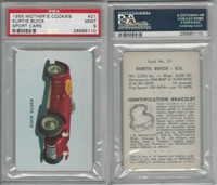 D72 Mother's Cookies, Sport Cars, 1955, #21 Kurtis Buick, PSA 9 Mint