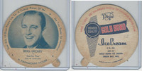 F5-18 Dixie Cup, 1952, Movie Stars, Large, Bing Crosby, Gold Bond Ice Cream