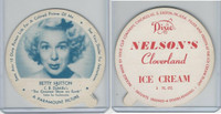 F5-18 Dixie Cup, 1952, Movie Stars, Large, Betty Hutton, Nelson's Ice Cream