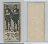 V122 Willard Choc., Sports Champions, 1924, #7 Haugen & Hansen, Ski Team