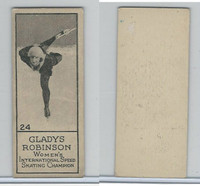 V122 Willard Choc., Sports Champions, 1924, #24 Gladys Robinson, Skating