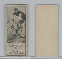 V122 Willard Choc., Sports Champions, 1924, #41 Olando Piani, Bicycle