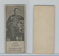 V122 Willard Choc., Sports Champions, 1924, #48 Art Staff, Ice Skater