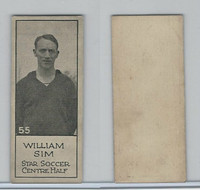 V122 Willard Choc., Sports Champions, 1924, #55 William Sim, Soccer