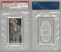 A72-23 Ardath, Famous Film Stars, 1934, #2 Maurice Chevalier, PSA 8 NMMT