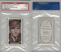 A72-23 Ardath, Famous Film Stars, 1934, #30 Fredric March, PSA 7 NM