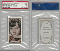 A72-23 Ardath, Famous Film Stars, 1934, #43 Anna May Wong, PSA 7 NM