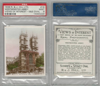H46-96 Hill, Views of Interest, 1938, #18 Westminster Abbey, PSA 9 Mint