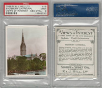 H46-96 Hill, Views of Interest, 1938, #19 Salisbury Cathedral, PSA 9 Mint