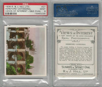H46-96 Hill, Views of Interest, 1938, #27 Hereford Cathedral, PSA 9 Mint