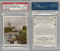 H46-96 Hill, Views of Interest, 1938, #30 Worcester Cathedral, PSA 9 Mint