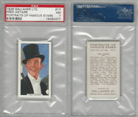 G12-93 Gallaher, Portraits Famous Stars, 1935, #17 Fred Astaire, PSA 7 NM