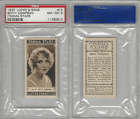 L56-12 Lloyd Cigarettes, Cinema Stars, 1937, #15 Betty Compson, PSA 8 NMMT