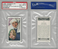 O2-123 Ogdens, Actors Natural & C. Studies, 1938, #10 Edith Evans, PSA 8 NMMT